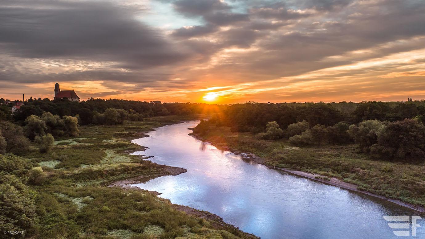 Odra, wschód słońca